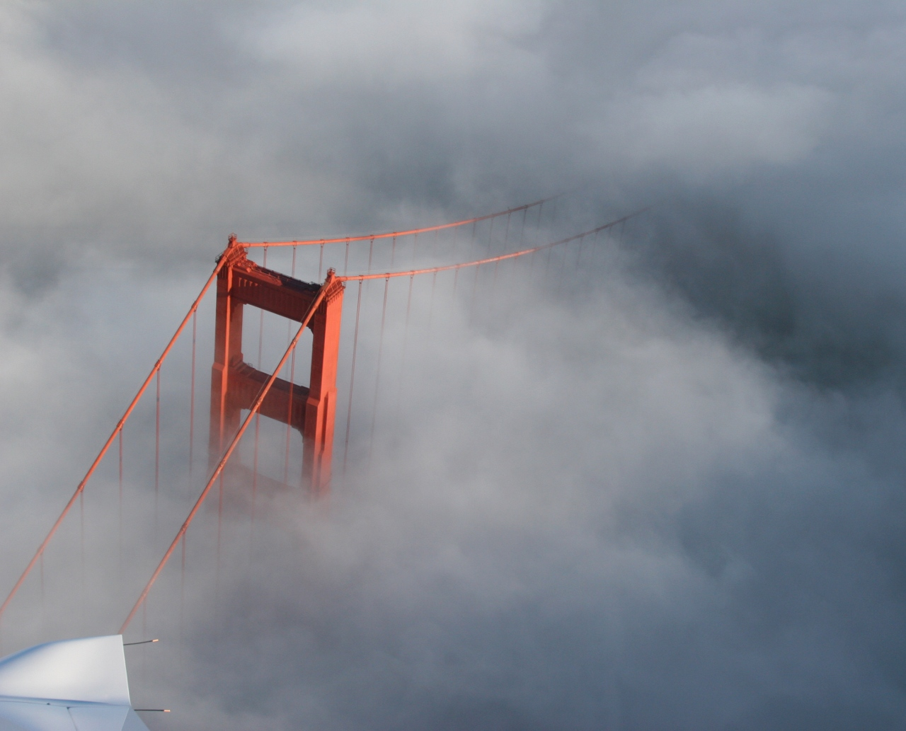 tip of the Golden Gate Bridge