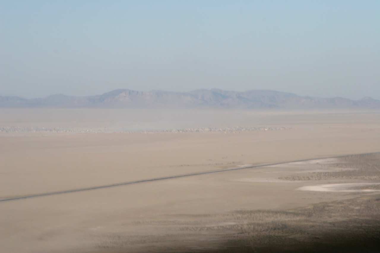 first sight of Black Rock City
