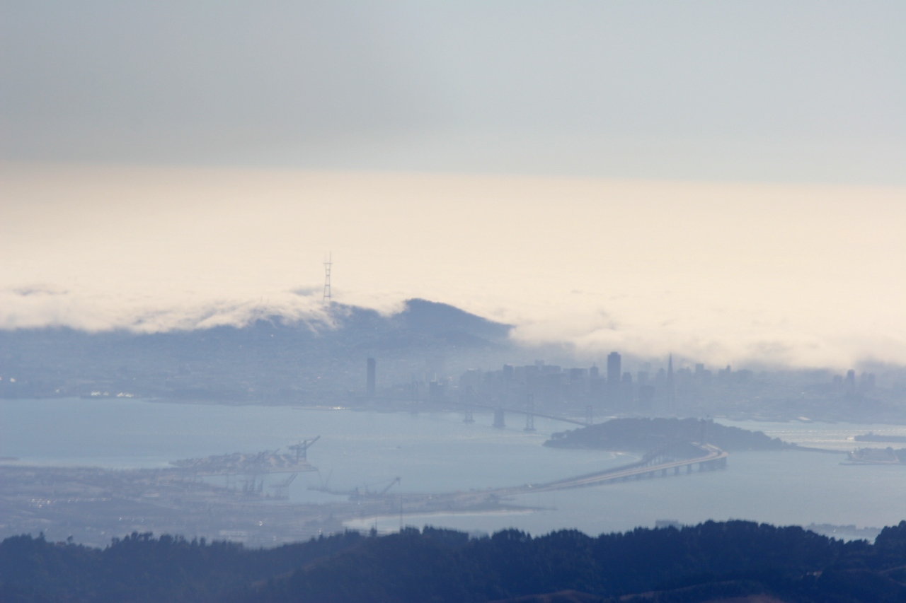 first sight of San Francisco Bay Area