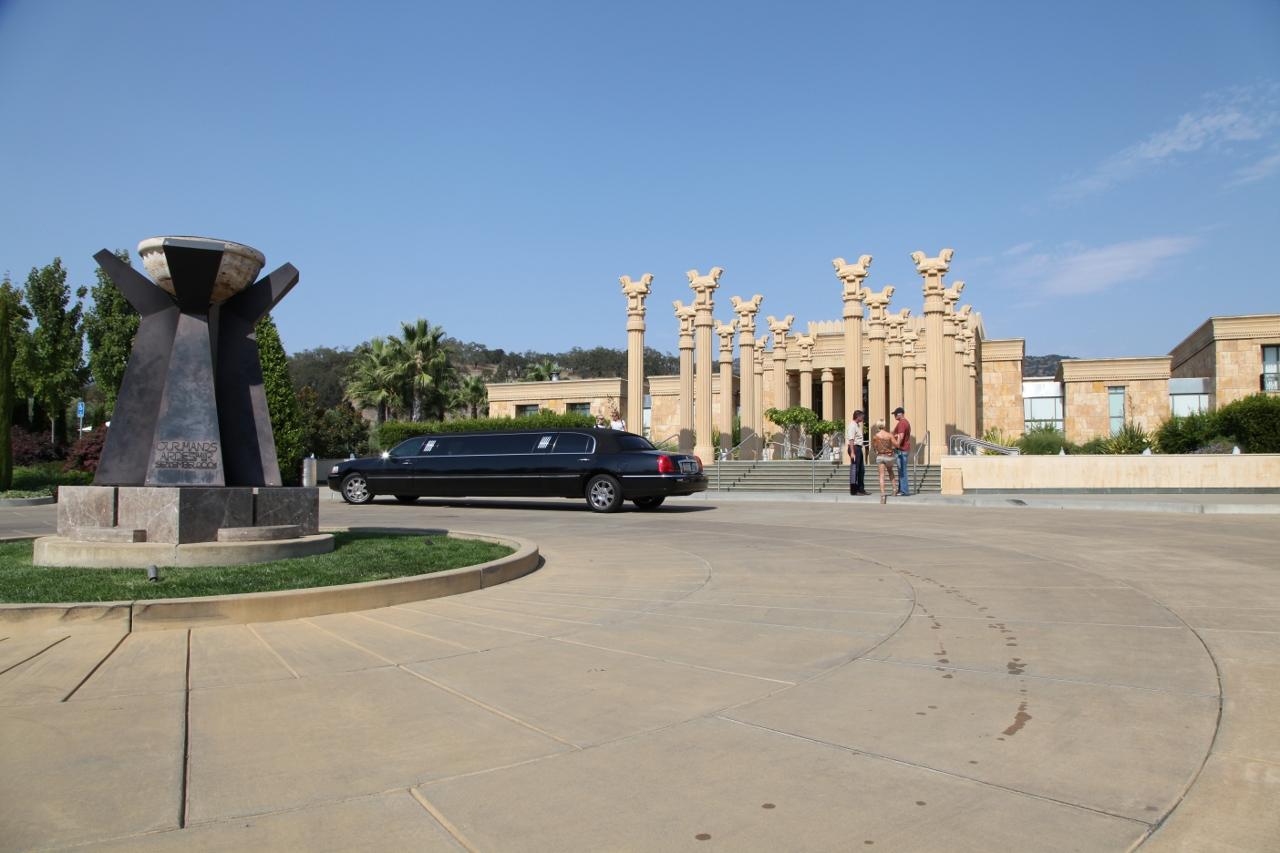 the entrance at Darioush