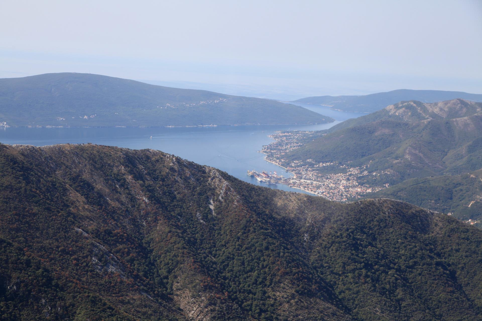 Bay of Tivat as seen from the Bay of Kotor