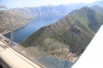 Bay of Kotor as seen from the Bay of Tivat