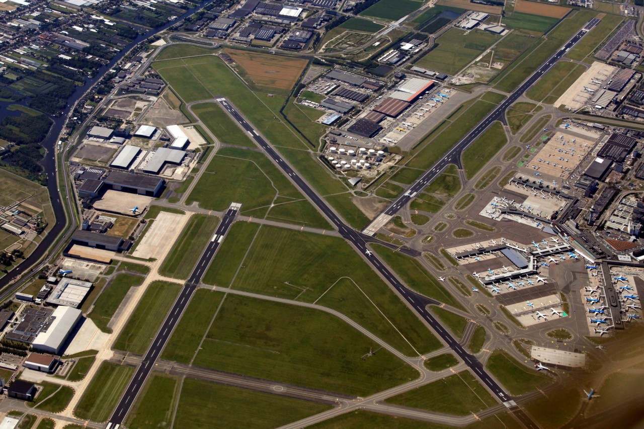Schiphol Airport from above