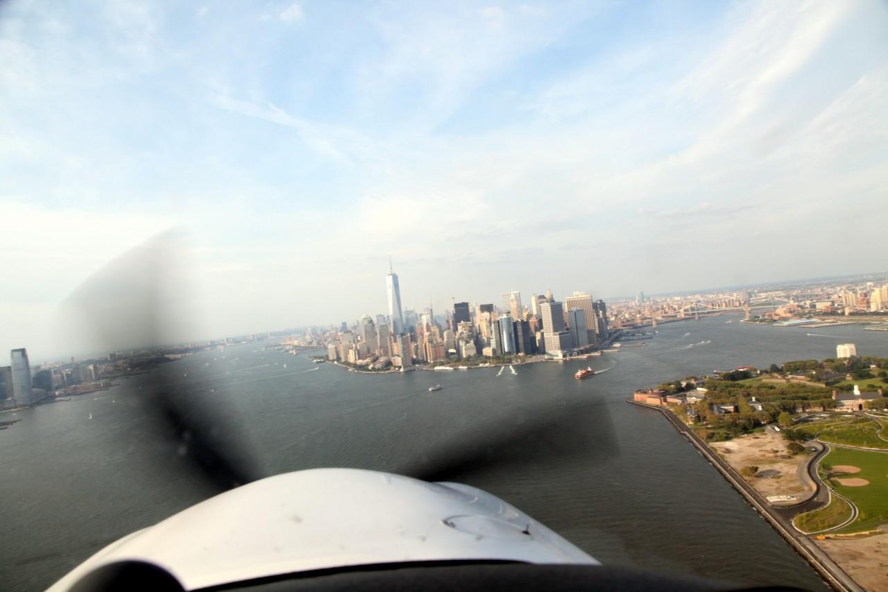 First view of Manhattan